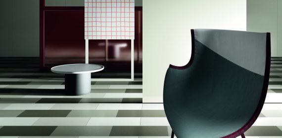Dew tiles used in a commercial setting