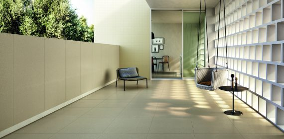 Be More tiles in the colour Vap used in a commercial setting